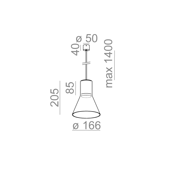 MODERN GLASS Flared SP GU10 fi50 zwieszany