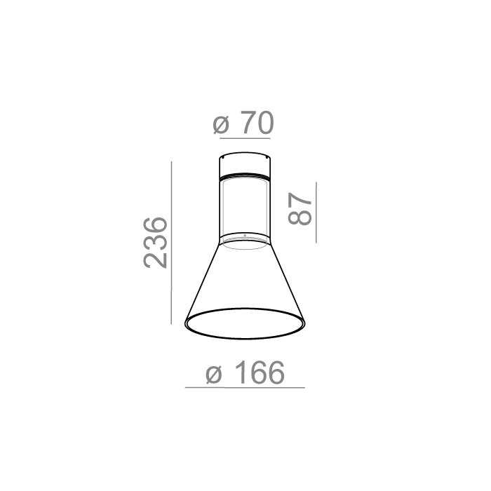 MODERN GLASS Flared TR LED 230V natynkowy