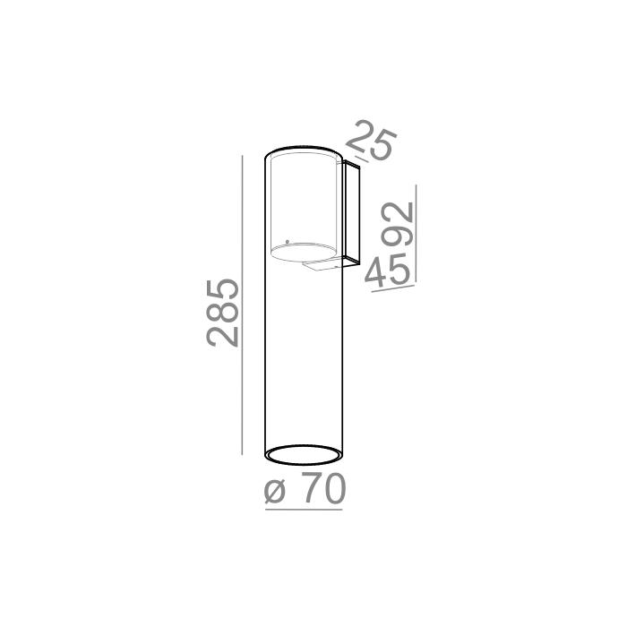 MODERN GLASS Tube TR LED 230V kinkiet