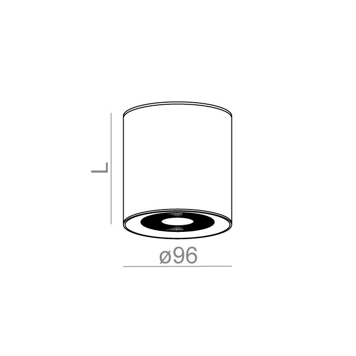 ONLY round mini 6 LED 230V hermetic natynkowy