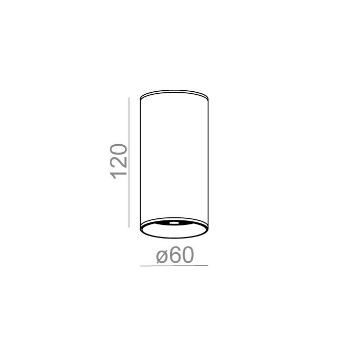 PET LED 230V hermetic natynkowy