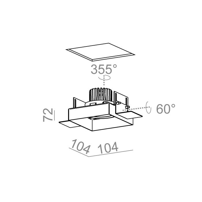 SQUARES next 50x1 LED trimless wpuszczany