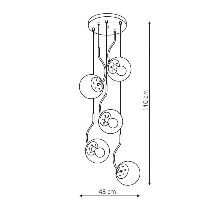 Wisca Hook 5 czarna (LP-125/5P BK)-Light Prestige