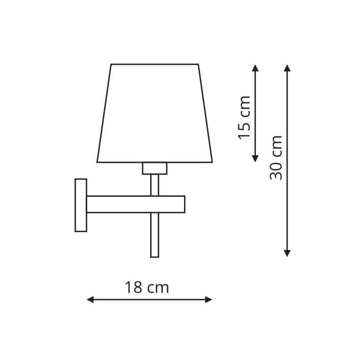 Kinkiet Tivoli biały (LP-1133/1W WH)-Light...