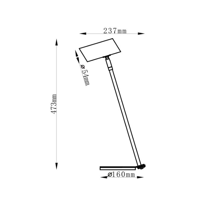 Lampa biurkowa Futuro czarna (LP-17001/1T BK...