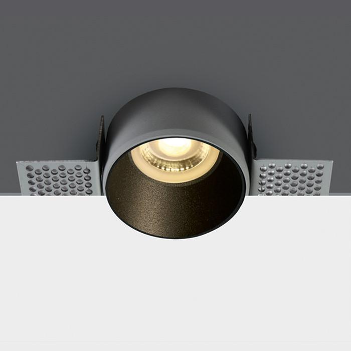 10105TR/B czarny wpust z oprawką GU10 MR16 50W dark light puszka montażowa