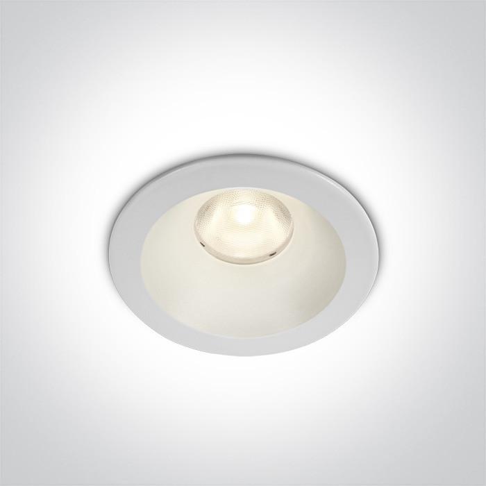 10108D/W/W biały wpust COB LED 3000K 8W dark light nieściemnialny zasilacz LED w zestawie