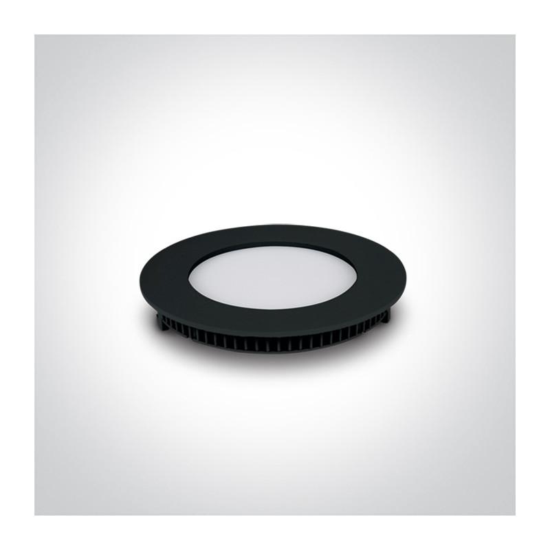 10108FA/B/W wąski czarny downlight LED IP40 3000K 8W nieściemnialny zasilacz LED 320mA w zestawie