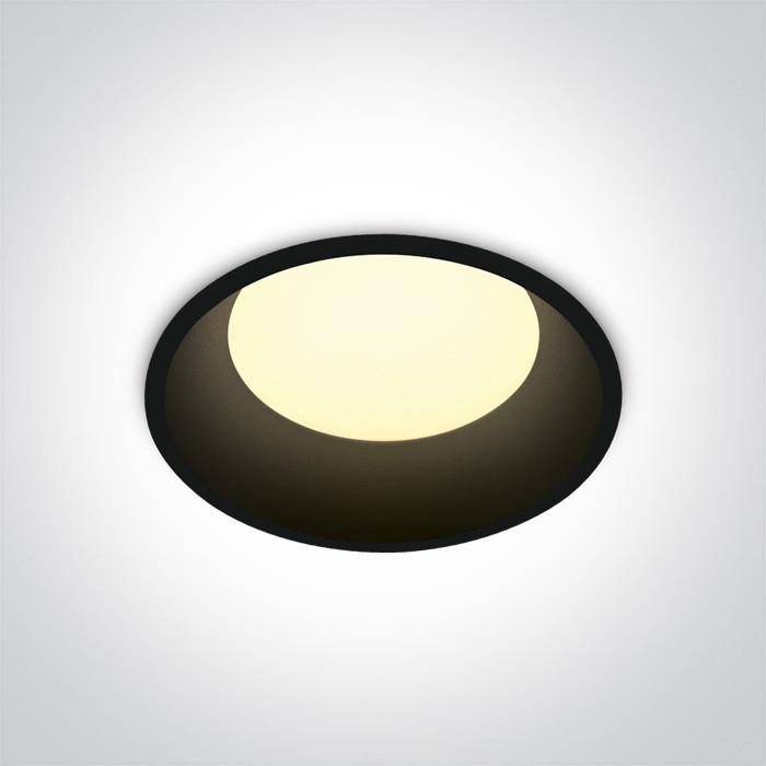 10109D/B/W czarny downlight LED 3000K 9W dark light nieściemnialny zasilacz LED 300mA w komplecie