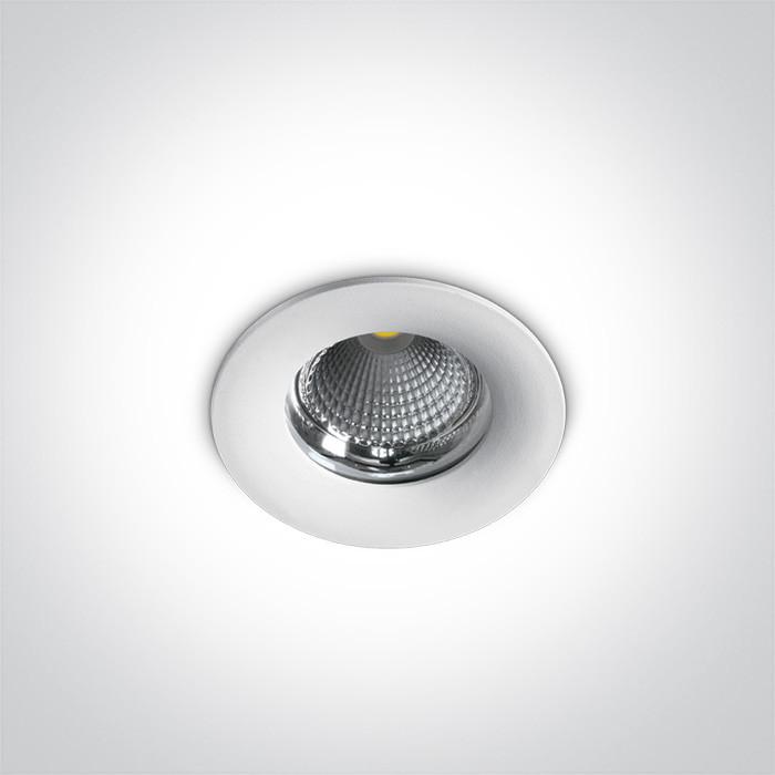 10110G/W/C biała oprawa typu downlight do wbudowania LED IP65 4000K 10W zasilacz 250mA w zestawie