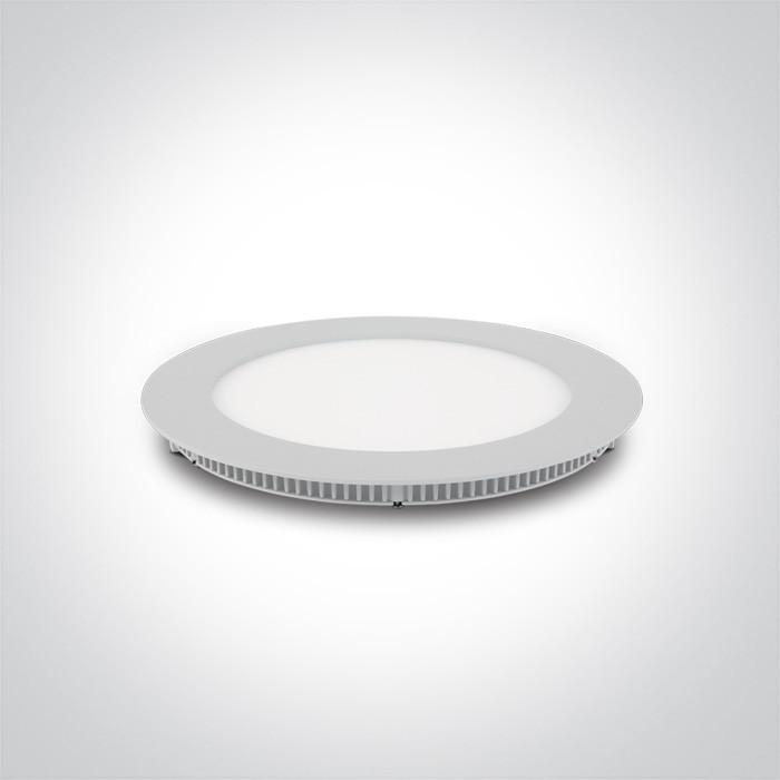 10112FA/W/C biały wąski downlight LED IP40 4000K 12W nieściemnialny zasilacz LED 250mA w komplecie