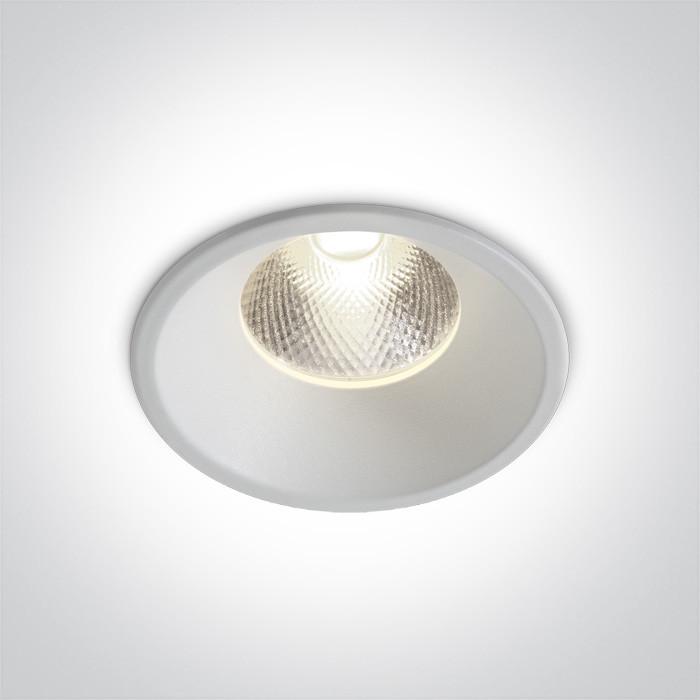 10112TD/W/C biały wpust z wymienną głowicą LED 4000K 12W dark light zasilacz 300mA w zestawie