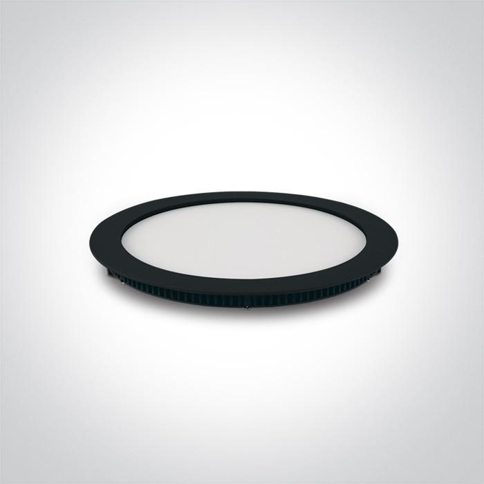 10118FA/B/W czarny smukły downlight LED IP40 3000K 18W nieściemnialny zasilacz LED 450mA w zestawie opcjonalnie zasilacz LED dim