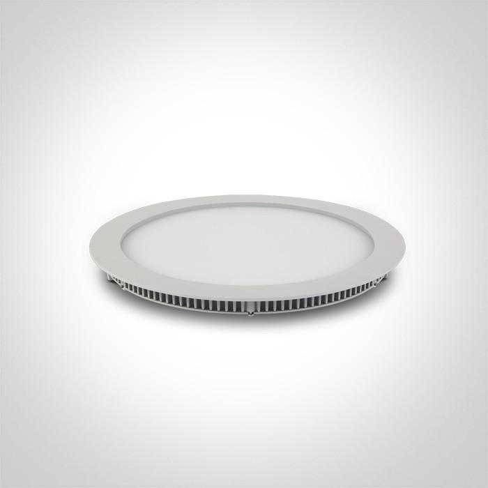 10130FA/W/D biały downlight LED IP40 6000K 30W nieściemnialny zasilacz LED 700mA w zestawie opcjonalnie zasilacz dimmm LED 89030