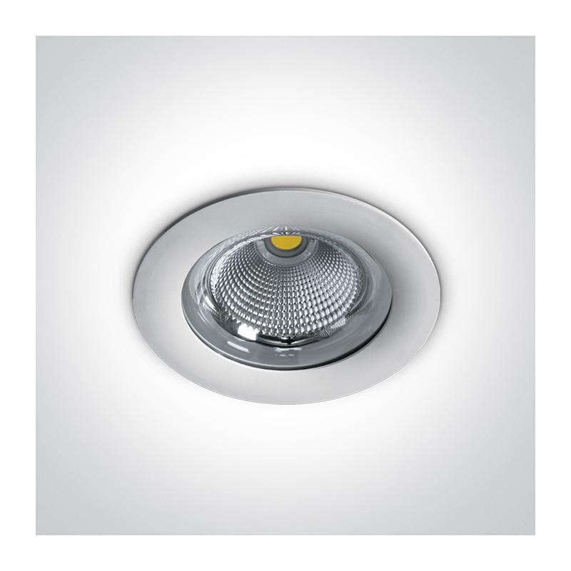 10130G/W/W biała wpuszczana oprawa typu downlight LED IP65 3000K 30W zasilacz 750mA w komplecie