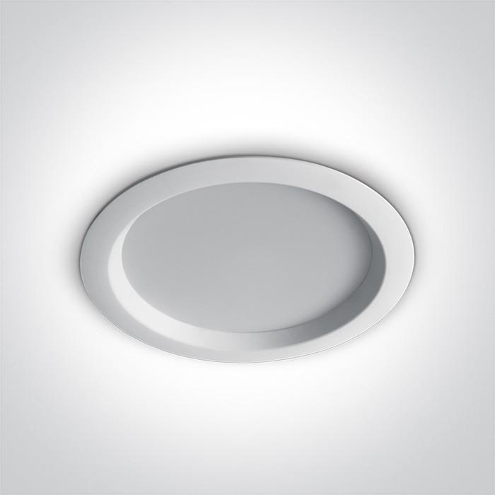 10130T/W/W biała wpuszczana oprawa typu downlight SMD LED 3000K 30W zasilacz 700mA w zestawie