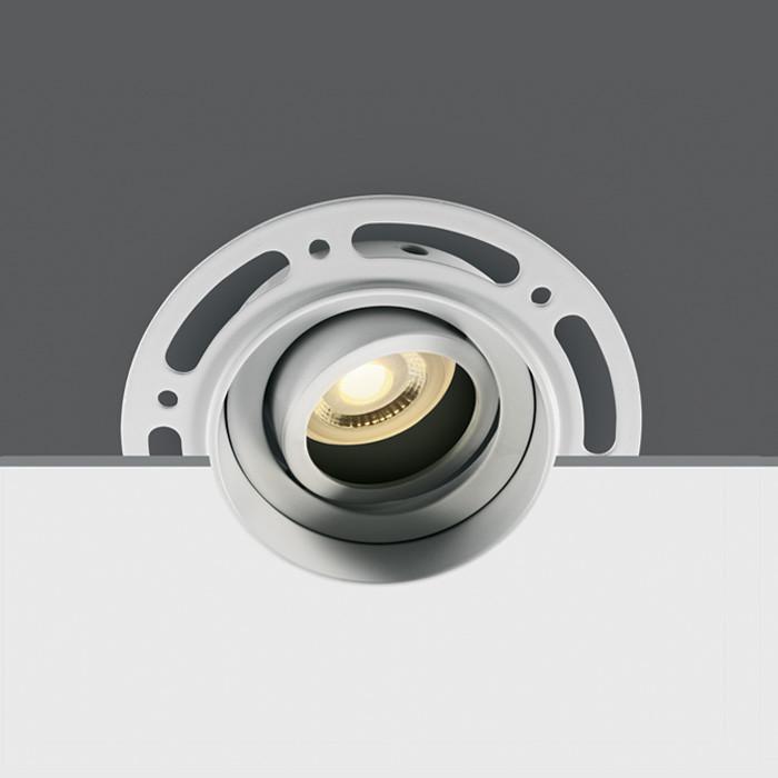 11105TR/W biały wpust z oprawką GU10 MR16 puszka montażowa