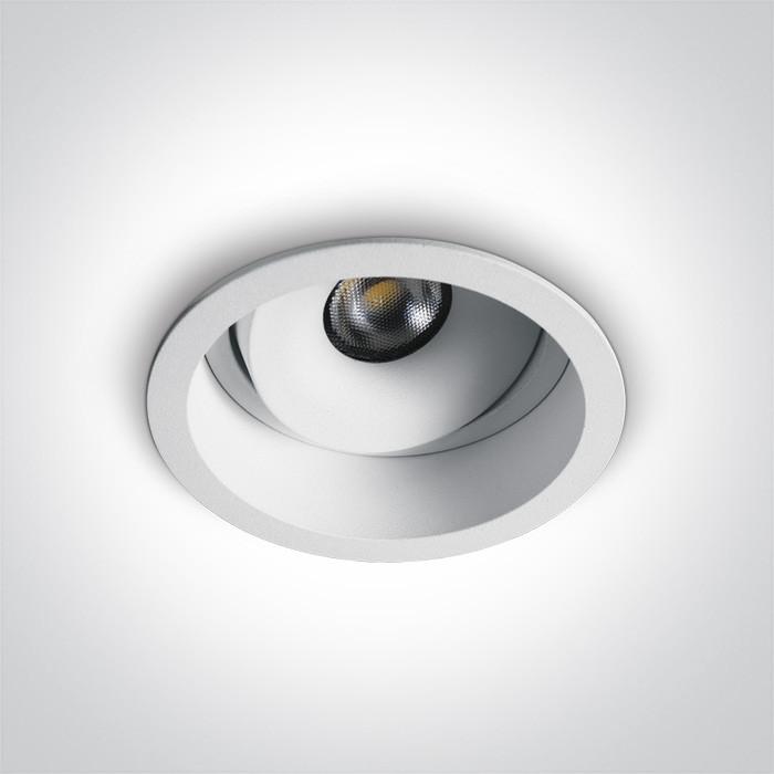 11107D/W/W biały wpust LED IP54 3000K 7W dark light wymagany zasilacz 700mA