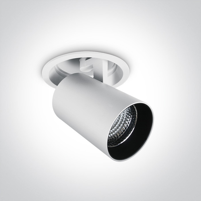 11125RA/W/C biały downlight COB LED 4000K 25W nieściemnialny zasilacz LED w zestawie