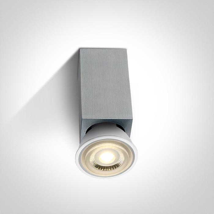 12132/AL aluminiowa oprawa sufitowa z oprawką GU10 MR16 50W