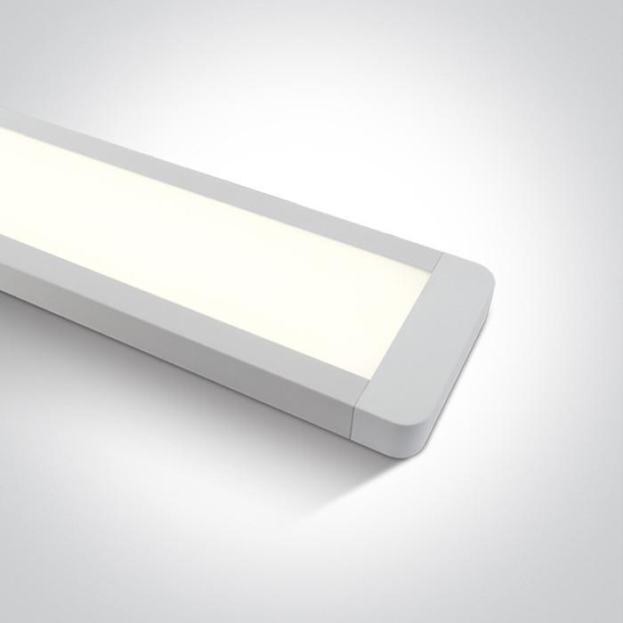 38248M/W/C biała oprawa LED 4000K 48W nieściemnialny zasilacz LED w zestawie