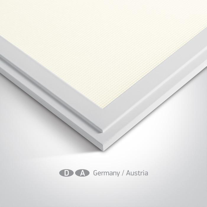 50148AU/W/C biały panel z możliwością montażu wpuszczanego lub natynkowego LED 4000K UGR19 wymagany zasilacz LED 1200mA
