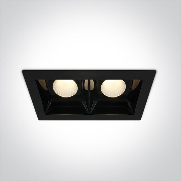 50220B/B/W czarny downlight LED 3000K 2x20W nieściemnialny zasilacz LED 500mA w zestawie