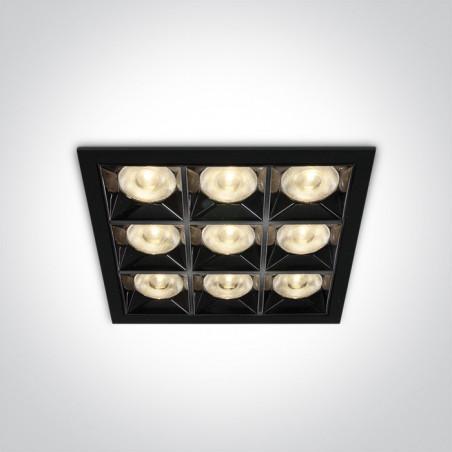50906B/B/W czarny wpust  z odbłyśnikiem ciemny chrom COB LED 3000K 36W nieściemnialny zasilacz LED w zestawie