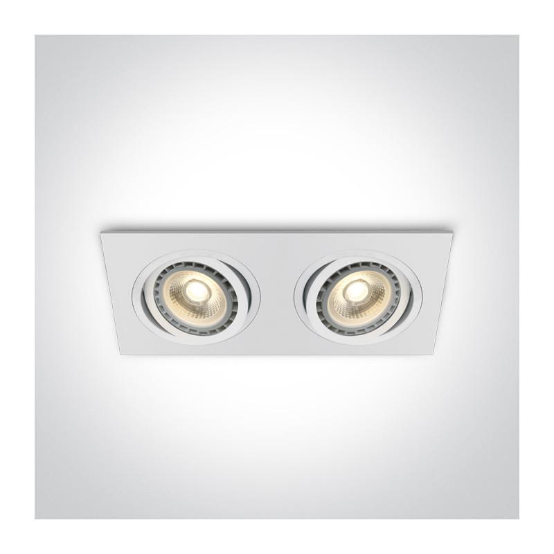 51210AB/W biała wpuszczana oprawa typu downlight z oprawką G53 2xR111
