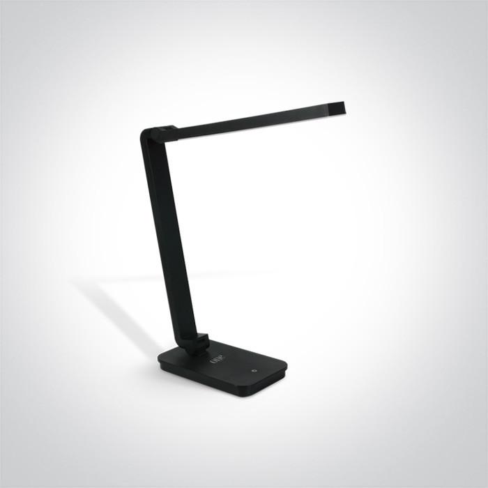 61072/B czarna lampa biurkowa z gniazdem USB oraz bezstopniowym ściemnianiem 6W
