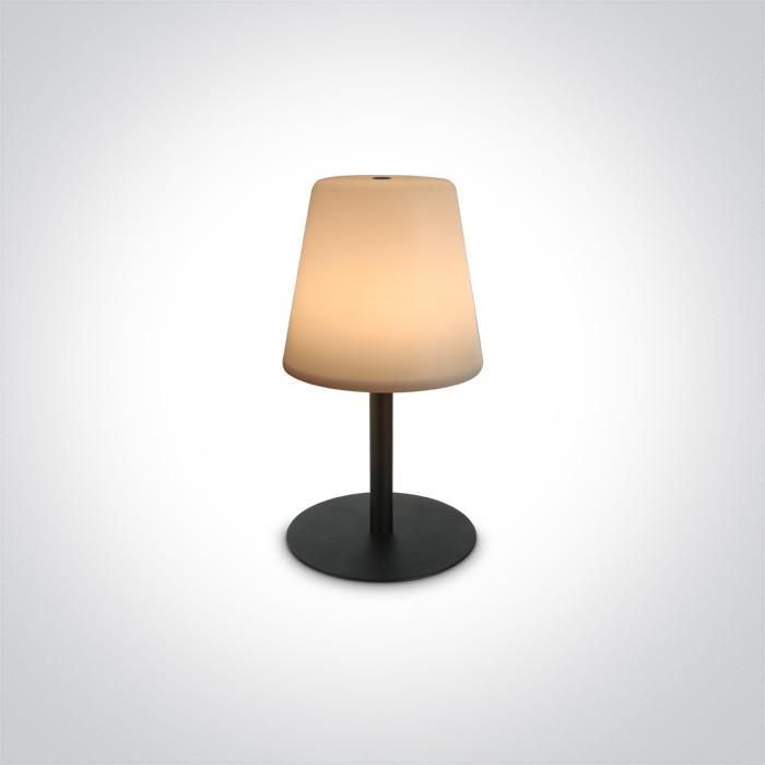 61084/B czarna bezprzewodowa lampa stołowa IP44 3000K 2W czas ładowania 4h czas pracy 8h
