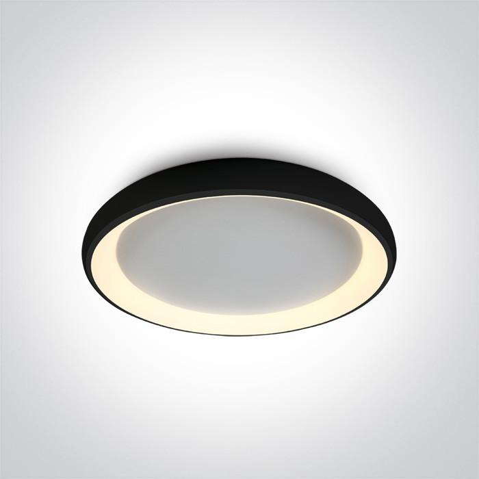 62144N/B/W plafon LED 3000K 50W czarny zasilacz 1200mA w komplecie