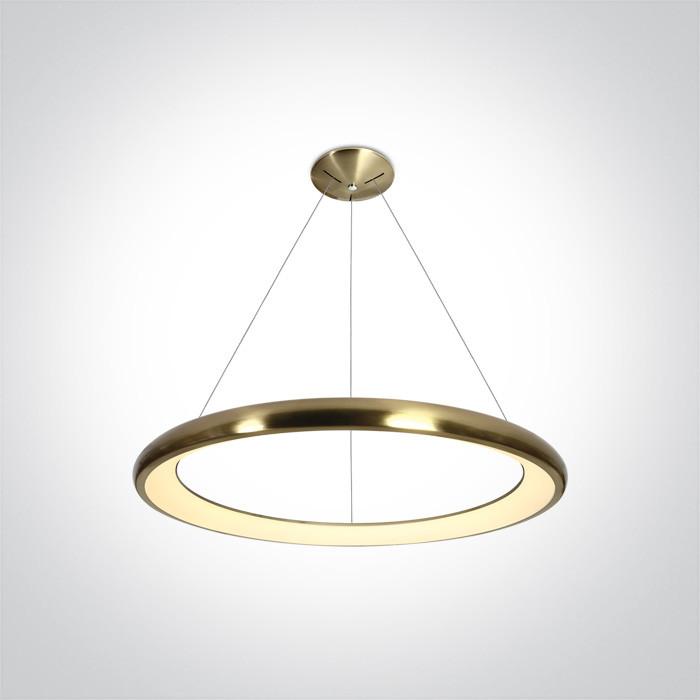 62144NB/BBS/W lampa wisząca LED 3000K 50W matowy mosiądz zasilacz 1200mA w zestawie