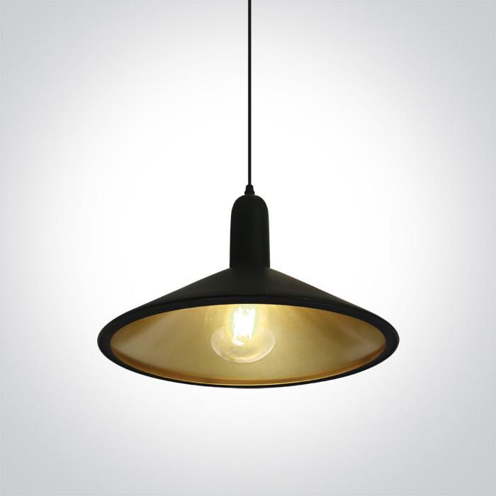 63026/B/BS czarno-mosiężna lampa wisząca E27 12W
