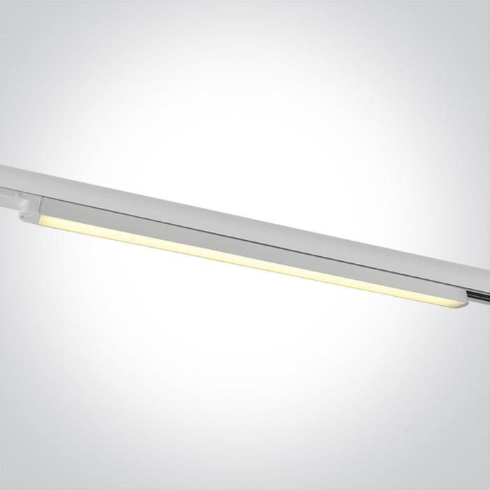 65025T/W/W biały naświetlacz track o dużej mocy LED 3000K zasilacz w zestawie