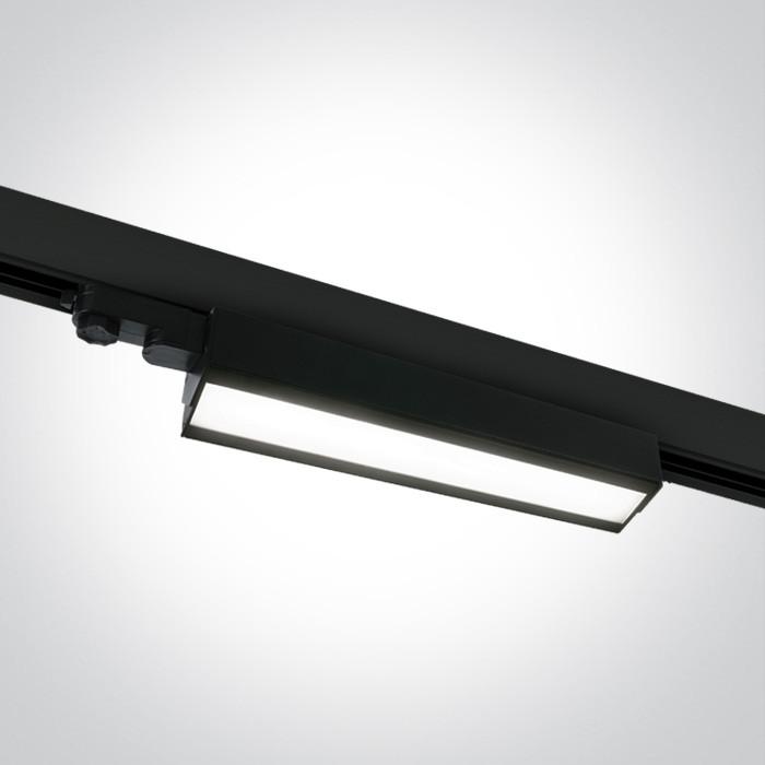 65026T/B/C czarny naświetlacz track z regulacą +-45° COB 4000K 40W zasilacz w zestawie