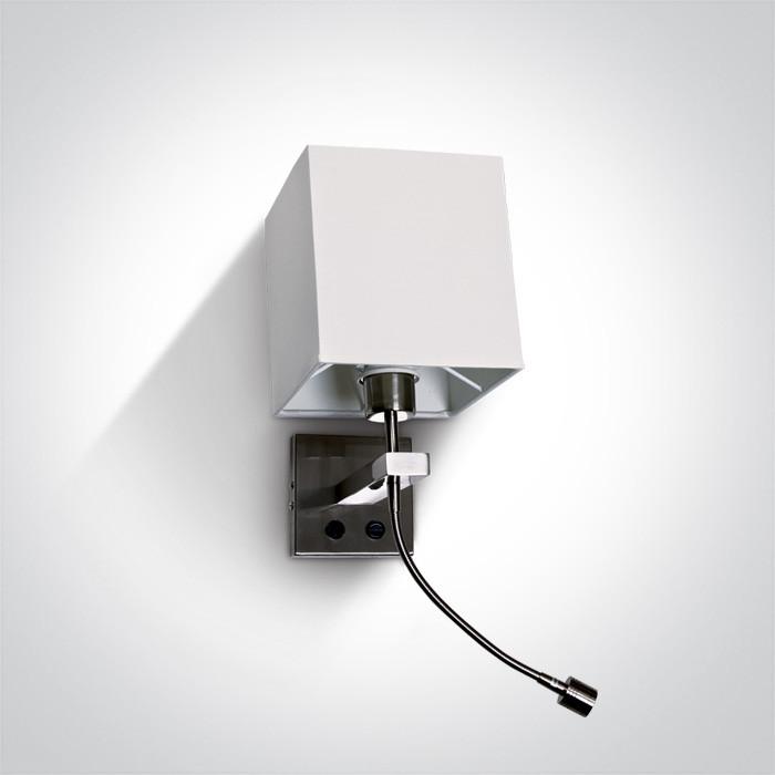 65138/MC/W dekoracyjna lampa w kolorze matowy chrom LED 3000K E27 +3W  zasilacz w zestawie