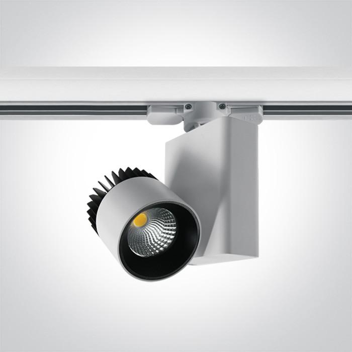 65610AT/W/W biały track spot COB LED 3000K 10W elektroniczny zasilacz o wysokiej częstotliwości w zestawie