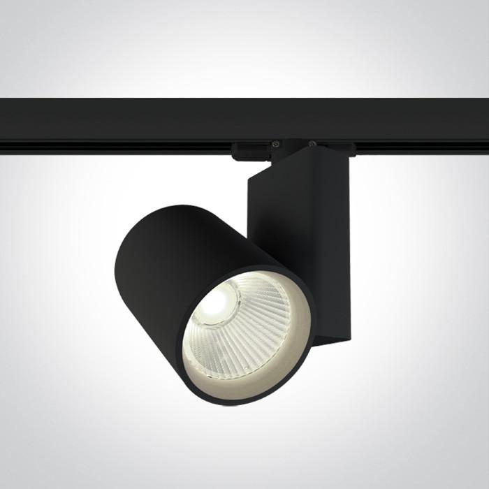 65612NT/B/C czarny track spot COB LED 4000K 30W zasilacz w zestawie