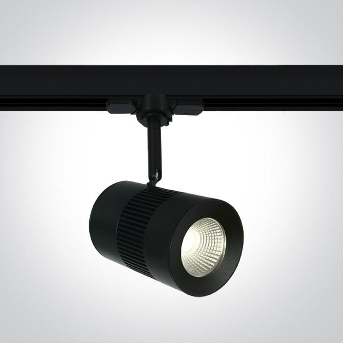 65628T/B/C czarny track spot COB LED 4000K 15W elektroniczny zasilacz o wysokiej częstotliwości w zestawie