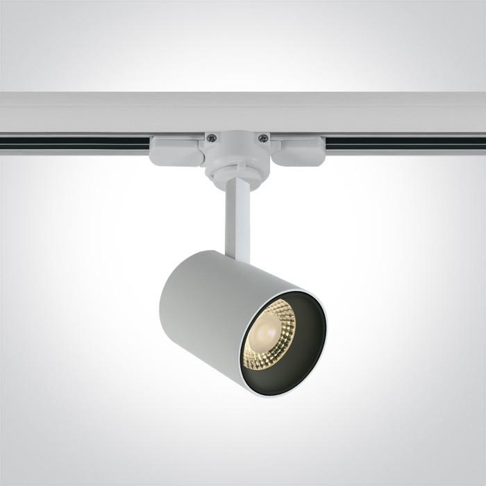 65646T/W/W biały track spot  COB LED 3000K 8W AC LED