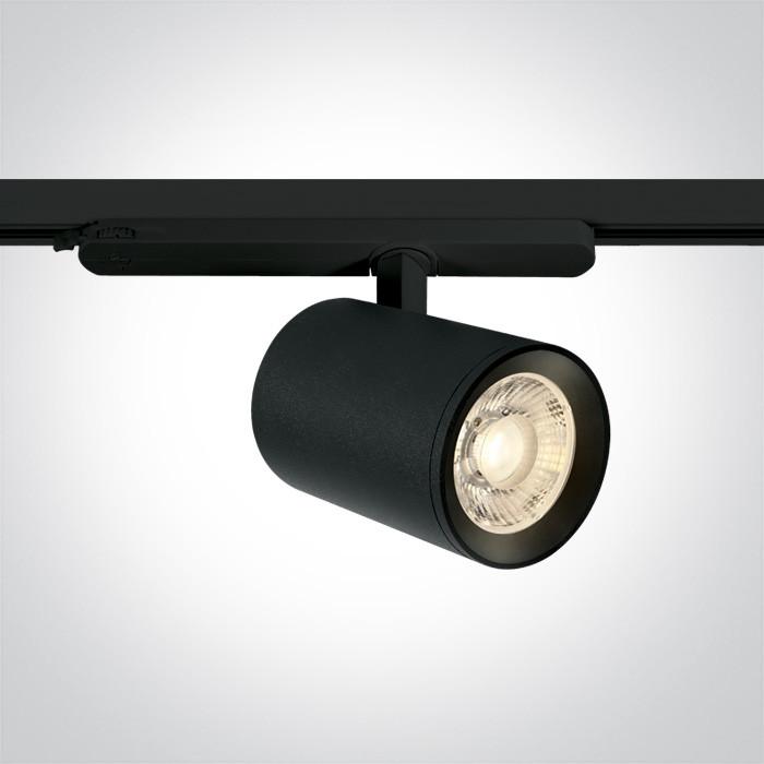 65654CT/B/C czarny reflektorek track spot COB LED 4000K 40W 230V zasilacz 1050mA w komplecie