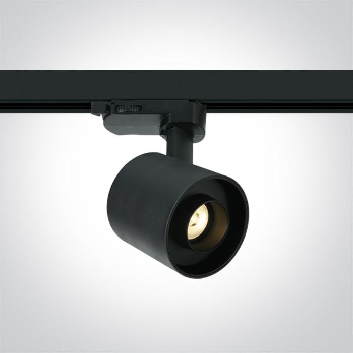 65656AT/B/W czarny reflektorek track spot SMD LED 3000K  6W 230V dark light zasilacz 150mA w komplecie
