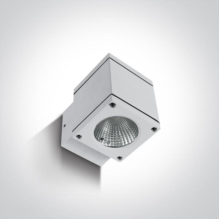67138F/W/W biały zewnętrzny kinkiet 3000K 6W IP54 zasilacz w zestawie