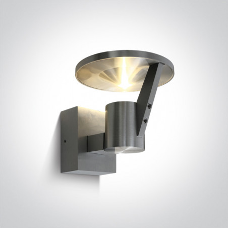 67256/AL/W aluminiowy kinkiet LED 3000K 3W IP54 nieściemnialny zasilacz LED w zestawie