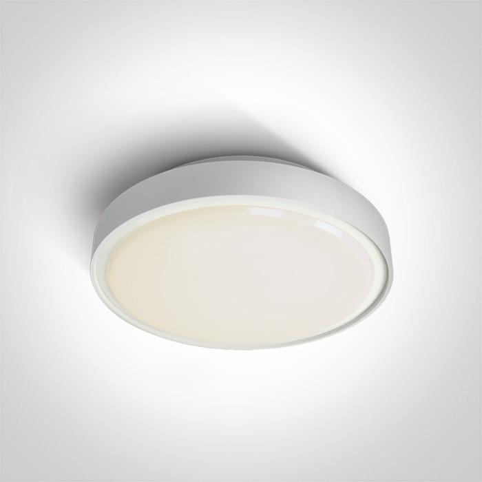 67280BN/W/W biały plafon LED 3000K 30W IP65 nieściemnialny zasilacz LED w zestawie