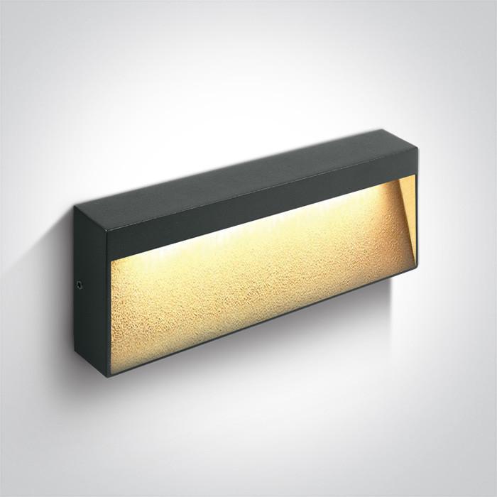67359B/AN/W kinkiet w kolorze antracyt LED 3000K 6W IP54 nieściemnialny zasilacz LED w zestawie