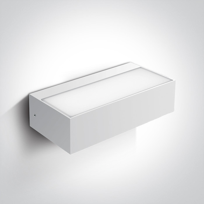 67362C/W/W biały kinkiet LED 3000K 9W IP54 nieściemnialny zasilacz LED w zestawie