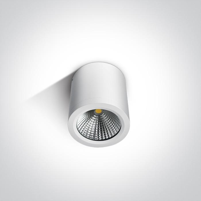 67380/W/W biały cylinder sufitowy COB LED 3000K 10W IP54 nieściemnialny zasilacz LED w zestawie