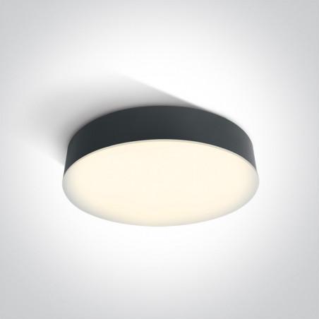 67390/AN/W plafon w kolorze antracyt LED 3000K 21W IP65 nieściemnialny zasilacz LED w zestawie
